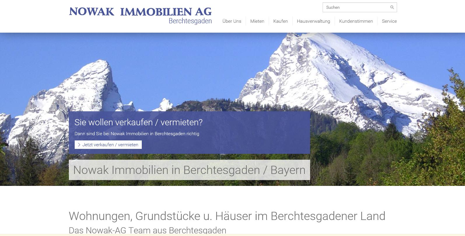 Homepageseite