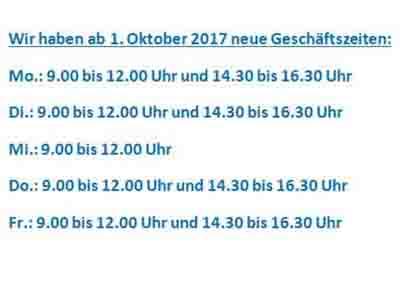 Neue Oeffnungszeiten Nowak Immobilien AG